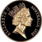 Australia 250 Dollars 40th Anniversary - Reign. Queen Mother 1992 Proof KM# 204 coin obverse