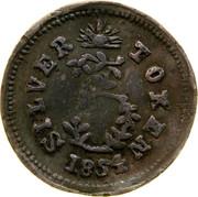 Australia 3 Pence 1854 KM# Tn253 Private Token issues SILVER 3 TOKEN 1854 coin reverse