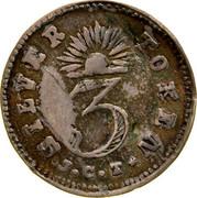 Australia 3 Pence 1854 KM# Tn251 Private Token issues SILVER 3 TOKEN J.C.T. coin reverse