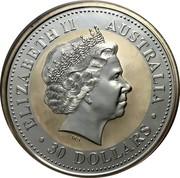 Australia 30 Dollars Kookaburra USA State Quarters 2000 KM# 617 ELIZABETH II AUSTRALIA 30 DOLLARS coin obverse