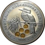 Australia 30 Dollars Kookaburra USA State Quarters 2000 KM# 617 THE AUSTRALIAN KOOKABURRA 1 KILO 999 SILVER 2000 coin reverse