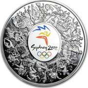 Australia 30 Dollars Olympic Masterpiece 2000 KM# 520 SYDNEY 2000 ™© coin reverse