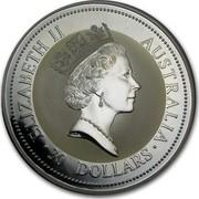 Australia 30 Dollars The Australian Kookaburra 1994 KM# 232 ELIZABETH II AUSTRALIA 30 DOLLARS RDM coin obverse