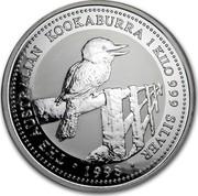 Australia 30 Dollars The Australian Kookaburra 1998 KM# 495 THE AUSTRALIAN KOOKABURRA 1 KILO 999 SILVER 1998 coin reverse