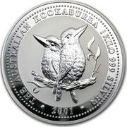 Australia 30 Dollars The Australian Kookaburra 2001 KM# 447 THE AUSTRALIAN KOOKABURRA 1 KILO 999 SILVER 2000 coin reverse