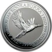 Australia 30 Dollars (The Australian Kookaburra) KM# 292 THE AUSTRALIAN KOOKABURRA 1 KILO 999 SILVER *YEAR* coin reverse