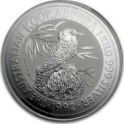 Australia 30 Dollars (The Australian Kookaburra) KM# 181 THE AUSTRALIAN KOOKABURRA 1 KILO 999 SILVER *YEAR* coin reverse