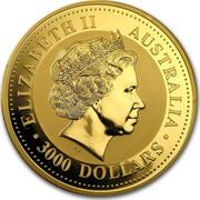 Australia 3000 Dollars The Australian Kangaroo 1999 KM# 455 ELIZABETH II AUSTRALIA 3000 DOLLARS IRB coin obverse