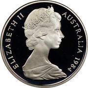 Australia 5 Cents Echidna 1984 Proof KM# 64 ELIZABETH II AUSTRALIA *YEAR* coin obverse