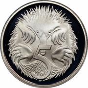 Australia 5 Cents Echidna 1984 Proof KM# 64 5 SD coin reverse