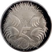 Australia 5 Cents Echidna 1991 KM# 80a 5 SD coin reverse