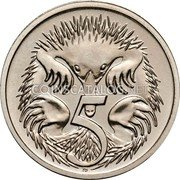 Australia 5 Cents Echidna 1997 Proof KM# 80 5 SD coin reverse