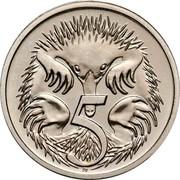 Australia 5 Cents Echidna 1997 Proof KM# 80 5 SD coin reverse