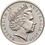 Australia 5 Cents Echidna 2000 Proof KM# 401 ELIZABETH II AUSTRALIA *YEAR* IRB coin obverse