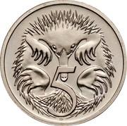 Australia 5 Cents Echidna 2000 Proof KM# 401 5 SD coin reverse