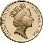 Australia 5 Dollars 100 Years of Womens Enfranchisement South Australia 1994 KM# 224a ELIZABETH II AUSTRALIA 1994 RDM coin obverse
