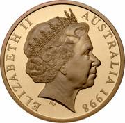 Australia 5 Dollars 70 Years of Services - Royal Flying Doctors 1998 KM# 386 ELIZABETH II AUSTRALIA 1998 IRB coin obverse