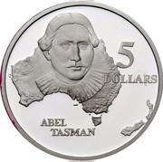 Australia 5 Dollars Australian Explorers - Abel Tasman 1993 KM# 214 5 DOLLARS ABEL TASMAN coin reverse