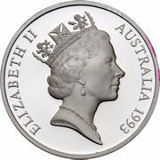 Australia 5 Dollars Australian Explorers - Aboriginal Exploration 1993 KM# 213 ELIZABETH II AUSTRALIA 1993 RDM coin obverse