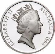 Australia 5 Dollars Australian Explorers - Charles Sturt 1994 KM# 265 ELIZABETH II AUSTRALIA 1994 RDM coin obverse