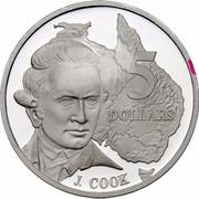 Australia 5 Dollars Australian Explorers - James Cook 1993 KM# 215 5 DOLLARS J.COOK G coin reverse