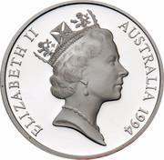 Australia 5 Dollars Australian Explorers - John McDouall Stuart 1994 KM# 267 ELIZABETH II AUSTRALIA 1994 RDM coin obverse