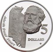 Australia 5 Dollars Australian Explorers - John McDouall Stuart 1994 KM# 267 JOHN MCDOUALL STUART N.T. S.A. 5 DOLLARS G coin reverse