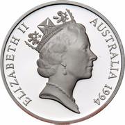 Australia 5 Dollars Australian Explorers - Ludwing Leichhardt 1994 KM# 264 ELIZABETH II AUSTRALIA 1994 RDM coin obverse