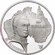 Australia 5 Dollars Australian Explorers - Matthew Flinders 1993 KM# 216 5 DOLLARS M.FLINDERS coin reverse