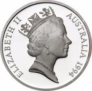 Australia 5 Dollars Australian Explorers - Sir Douglas Mawson 1994 KM# 268 ELIZABETH II AUSTRALIA 1994 RDM coin obverse
