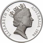 Australia 5 Dollars Australian Explorers - Sir John Forrest 1994 KM# 266 ELIZABETH II AUSTRALIA 1994 RDM coin obverse