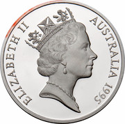 Australia 5 Dollars Colonial Australia - Charles Todd 1995 KM# 307 ELIZABETH II AUSTRALIA 1995 RDM coin obverse