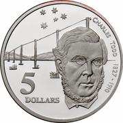 Australia 5 Dollars Colonial Australia - Charles Todd 1995 KM# 307 CHARLES TODD 1827 - 1910 5 DOLLARS WP coin reverse