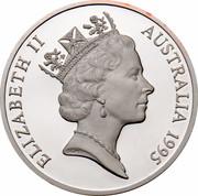 Australia 5 Dollars Colonial Australia - Cobb and Co 1995 KM# 304 ELIZABETH II AUSTRALIA 1995 RDM coin obverse