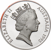 Australia 5 Dollars Colonial Australia - Col. William Light 1995 KM# 306 ELIZABETH II AUSTRALIA 1995 RDM coin obverse