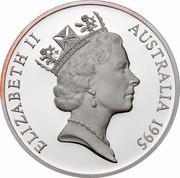 Australia 5 Dollars Colonial Australia - Elizabeth MacArthur 1995 KM# 305 ELIZABETH II AUSTRALIA 1995 RDM coin obverse