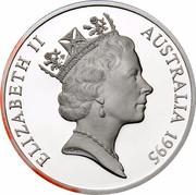 Australia 5 Dollars Colonial Australia - The Gold Rush Era 1995 KM# 303 ELIZABETH II AUSTRALIA 1995 RDM coin obverse