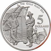 Australia 5 Dollars Colonial Australia - The Gold Rush Era 1995 KM# 303 THE GOLD RUSH ERA 5 DOLLARS WP coin reverse