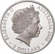 Australia 5 Dollars Emus 2000 KM# 438 ELIZABETH II AUSTRALIA 2000 5 DOLLARS IRB coin obverse