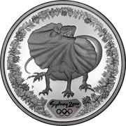 Australia 5 Dollars Frilled-Neck Lizard 2000 KM# 379 SYDNEY 2000 ™© P coin reverse
