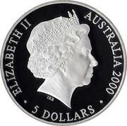 Australia 5 Dollars Harbor of Life (Land) 2000 KM# 815 ELIZABETH II AUSTRALIA 2000 5 DOLLARS IRB coin obverse