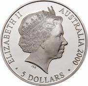 Australia 5 Dollars Harbour of Life 2000 KM# 818 ELIZABETH II AUSTRALIA 2000 5 DOLLARS coin obverse