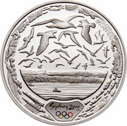 Australia 5 Dollars Harbour of Life 2000 KM# 818 SYDNEY 2000 ™© C coin reverse