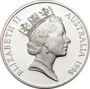 Australia 5 Dollars Horse Racing 1996 Proof KM# 329 ELIZABETH II AUSTRALIA 1996 RDM coin obverse