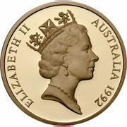 Australia 5 Dollars (International Year of Space) KM# 190 ELIZABETH II AUSTRALIA 1992 RDM coin obverse