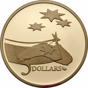 Australia 5 Dollars (International Year of Space) KM# 190 5 DOLLARS coin reverse