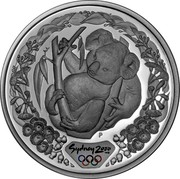 Australia 5 Dollars Koala 2000 KM# 439 SYDNEY 2000 ™© P coin reverse