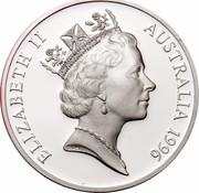 Australia 5 Dollars National Identity - Dame Nellie Melba 1996 KM# 330 ELIZABETH II AUSTRALIA 1996 RDM coin obverse