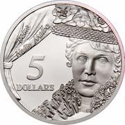 Australia 5 Dollars National Identity - Dame Nellie Melba 1996 KM# 330 DAME NELLIE MELBA 5 DOLLARS G coin reverse