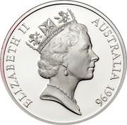 Australia 5 Dollars National Identity - Henry Lawson 1996 KM# 332 ELIZABETH II AUSTRALIA 1996 RDM coin obverse
